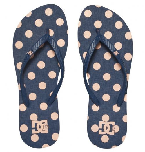 DC SHOES WOMENS FLIP FLOPS.NEW SPRAY GRAFFIK SPOTTY THONGS / SANDALS 7S 363 410
